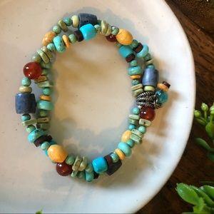 Silpada multicolor beaded bracelet B1677